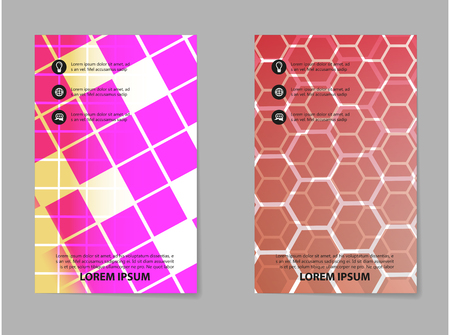 Geometric abstract brochure template design