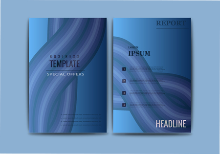 Abstract modern flyers brochure. Business brochure flyer design layout template in A4 circles Vectores