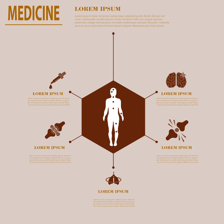 Medical infografics: Health problems. Health business ideas. Company medecine creative Illustration