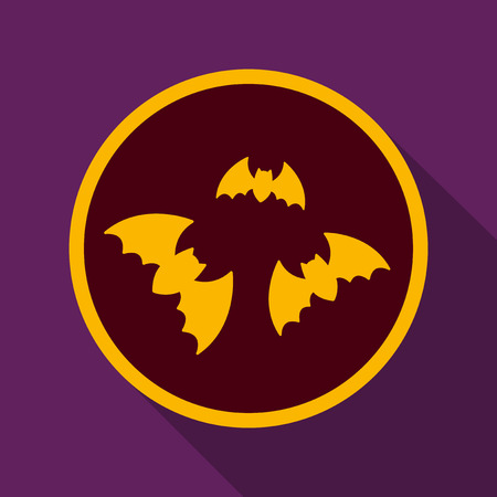 Flat icon with shadow bats