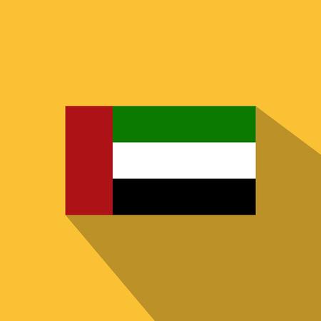 Flag of United Arab Emirates, United Arab Emirates Icon vector illustration,National flag for country of United Arab Emirates isolated, banner vector illustration.