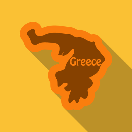 map of Greece in flat style with shadow Illustration