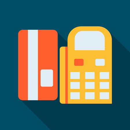 The terminal of non-cash payment. Payment using the card. Pay by phone. Contactless payment. Payment through the Internet.