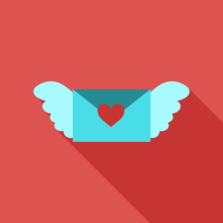 love letter icon with hearts Stock Illustratie