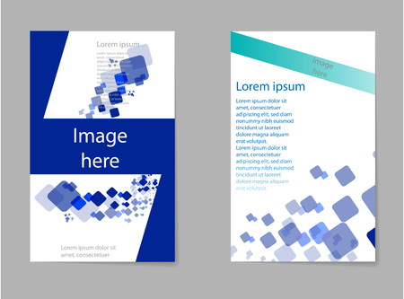 Mega pack Brochure design template flyer set, abstract business flyer size A4 template, creative cover, trend brochure set Vectores
