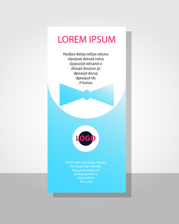 poster flyer pamphlet brochure cover design layout with circle shape graphic elements and space for photo background, black, red, turquoise color scheme, vector template in A4 size Stock Illustratie