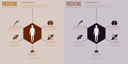 Medical infografics: Health problems. Health business ideas, medicine creative Standard-Bild - 94750904