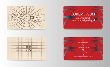 Set of Creative Business Card Print Templates. trending Style Vector Illustration. Stationery Design