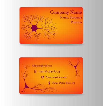 Neurosurgeon or brain doctor business card Illustration
