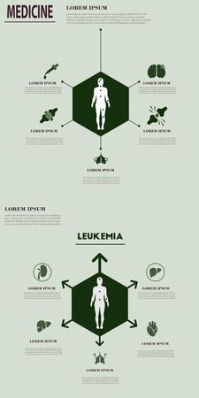 Medizinische Infografiken: Gesundheitsprobleme. Geschäftsideen im Gesundheitswesen. Unternehmensmedizin kreativ Standard-Bild - 94808962