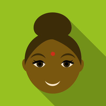Indian woman icon. Simple illustration of indian woman vector icon for web Illustration