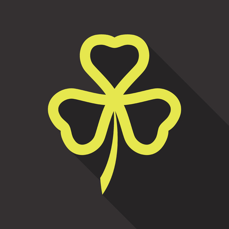 Irish shamrock lucky plant .Clover in the form of a vector illustration
