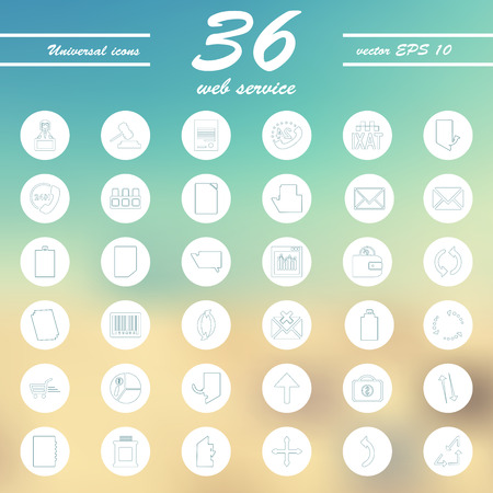 service line Icons Vector set