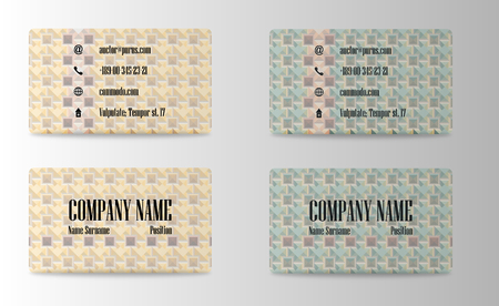Business card image illustration