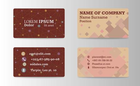 Business Card Background Design Template. Ilustracja
