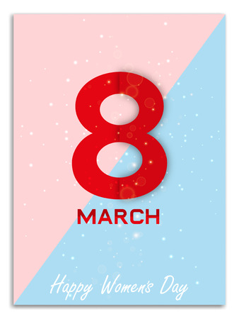 March 8 womens day image illustration Stock Illustratie