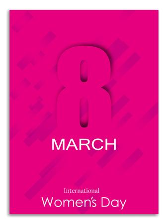Elegant international womens day card design