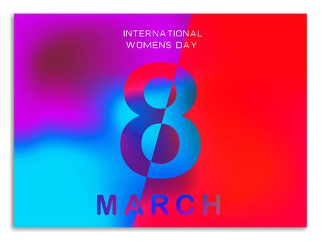 8. März Grußkartenvorlage. Broschüre, Plakat, Flyer oder Einladung zum Internationalen Frauentag. Vektor-illustration Vektorgrafik