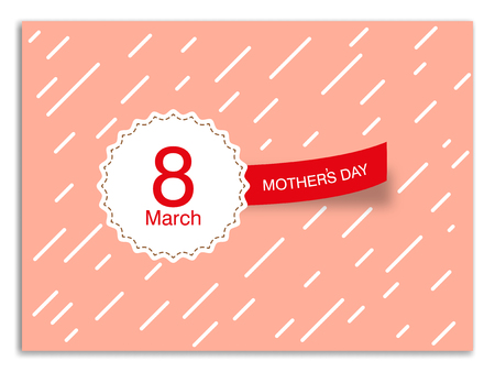 March 8 womens day greeting card image illustration