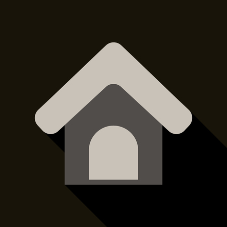 Doghouse icon. Vector illustration style Designed for web and software interfaces.