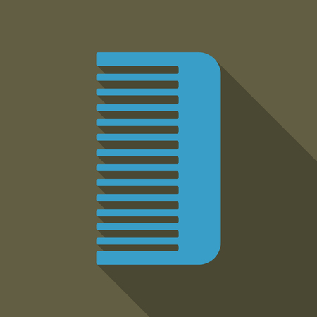 Comb icon. icon isolated on background. Comb silhouette. Simple icon. Web site page and mobile app design vector element. Vectores