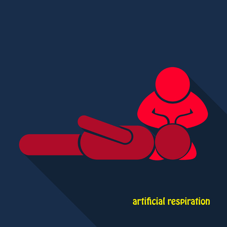 First Aid Rescue Emergency Help CPR Medic Saving Life Icon Symbol Sign Pictogram Illustration