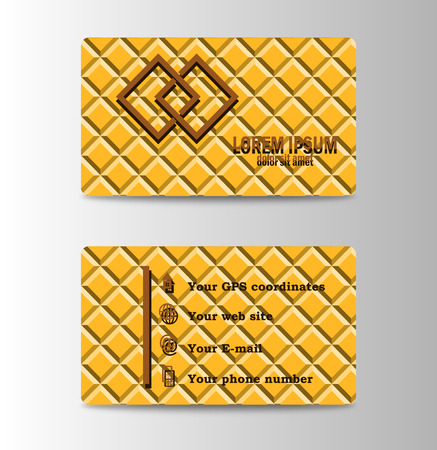 Creative and Clean Double-sided Business Card Template. Flat Design Vector Illustration. Stationery Design.