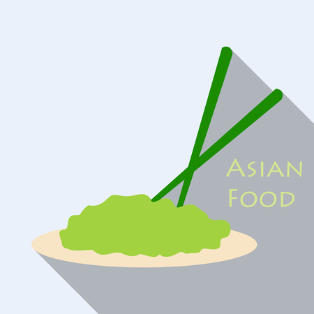 A Japanese Noodles. Asian, Thai, Chinese Food. Vector illustration