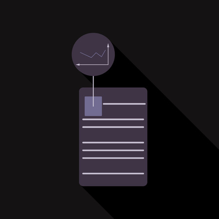The contract icon. Agreement and signature, pact, accord, convention symbol. Flat Vector illustration