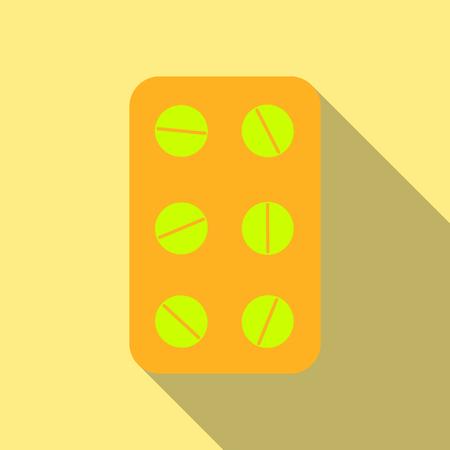 Pill . Medical capsule .Isometric vector illustration