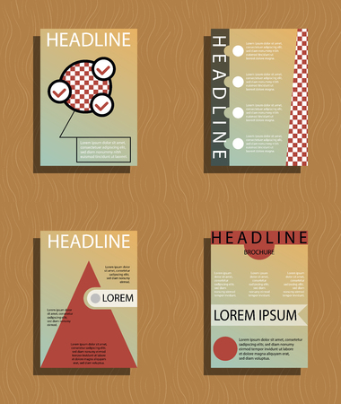 Set of abstract layout background template design.