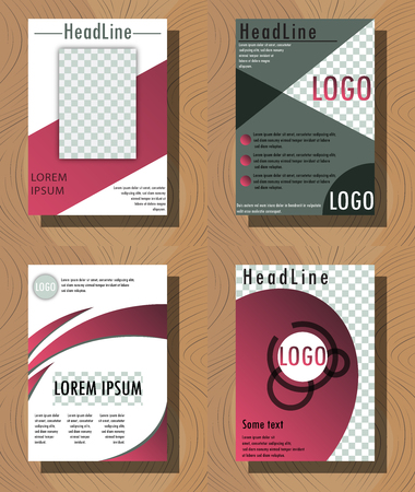 Set of abstract brochure flyer design background.