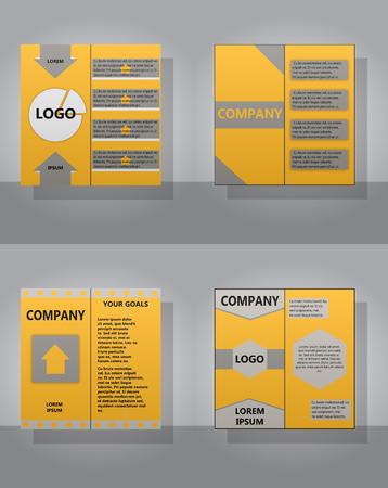 Set of layout background with abstract design. Ilustração