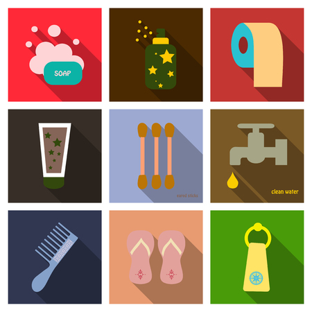 Set of hygiene icons.