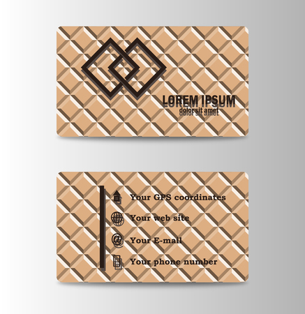 Creative and Clean Double-sided Business Card Template. Flat Design Vector Illustration. Stationery Design. background square