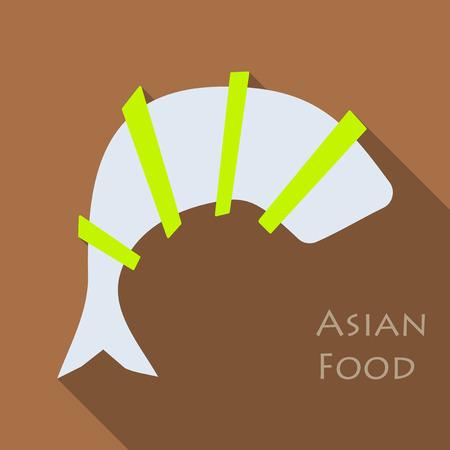 Fried shrimp icon. Cartoon illustration of fried shrimp vector icon for web