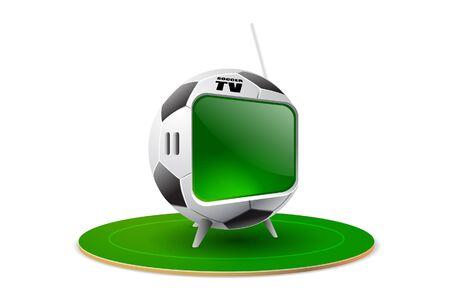 illustrators: football tv mania