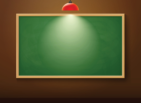 light classroom: blackboard on wall and lamp Illustration