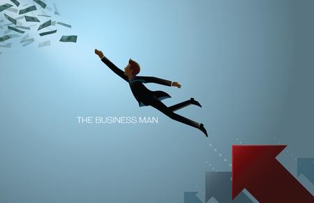 man jumping: business man reach