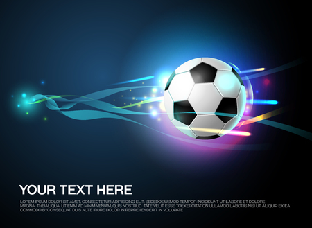 football shoot with sparkling light background