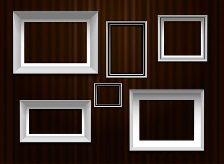 frames border on curtian wall Illustration
