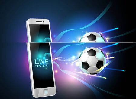 mobile football and mobile phone