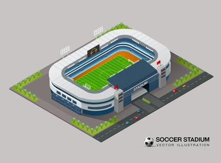 Isometric soccer stadium Vettoriali