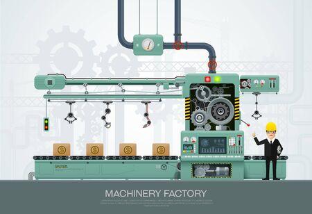 機械および製造、工学エンジニアの文字ベクトル イラスト ベクター