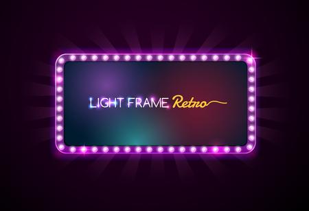 Cool Light frame retro,Shining retro light banner