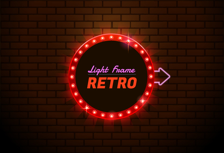 Colorful  presentation of a design for Shining retro banner.you can move arrow Illustration