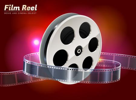 film reel cinema movie theater object on bokeh background