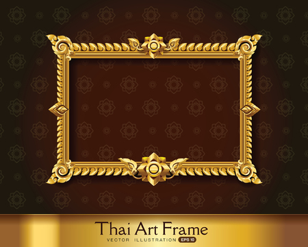 thai art frame border Illustration
