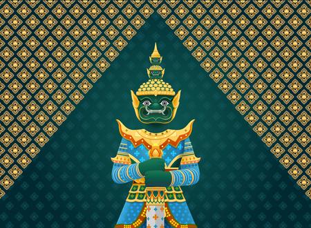 thai art giant,Thai Temple Guardian Giant.