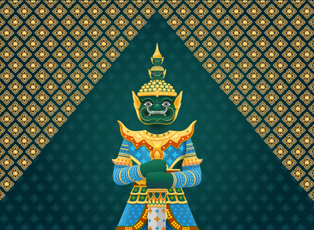 thai art giant,Thai Temple Guardian Giant.
